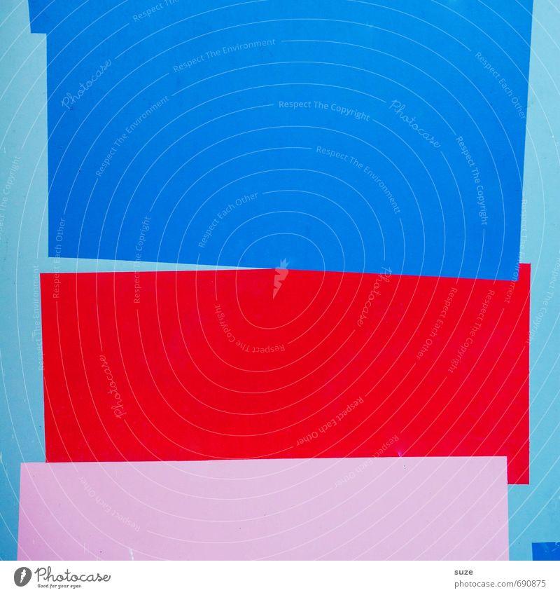 Graphic 2.6 Lifestyle Stil Design Wand Streifen eckig einfach modern blau rot rosa Grafik u. Illustration Hintergrundbild Linie Farbenspiel minimalistisch