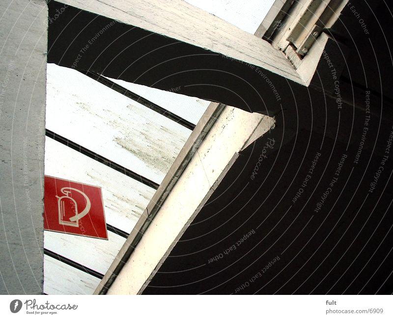 Schild Ikon Feuerlöscher rot Beton Industrie Schilder & Markierungen Glas