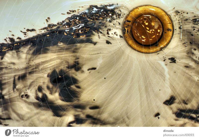so'n dreck Abfluss Waschbecken feucht fließen Farbe Flüssigkeit Unschärfe Wasser
