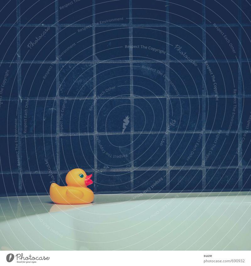Klein, Gelb, Laut Ferien & Urlaub & Reisen blau weiß Freude gelb lustig Spielen grau klein Schwimmen & Baden Freizeit & Hobby Häusliches Leben Design Kindheit