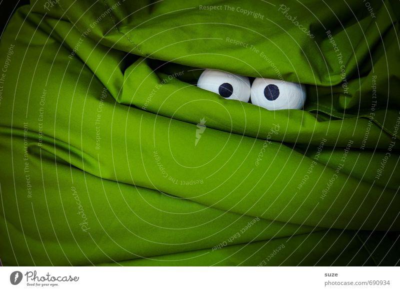 *2.800* Große Augen machen grün dunkel Gesicht lustig außergewöhnlich Freizeit & Hobby Angst Lifestyle Design verrückt beobachten Neugier geheimnisvoll Stoff