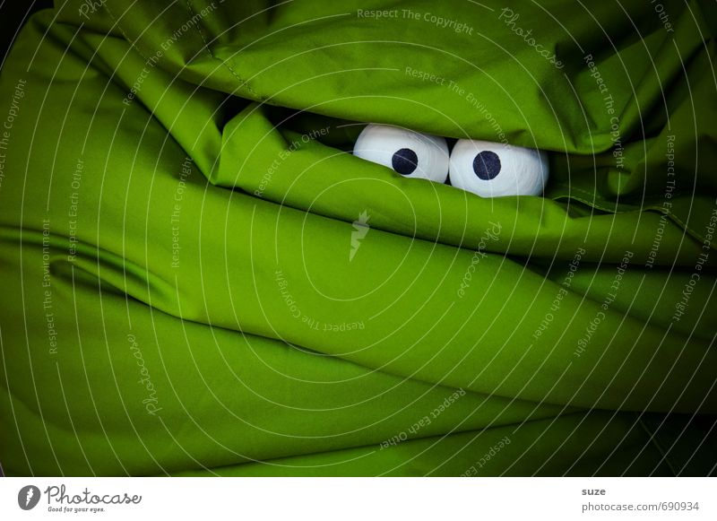 *2.800* Große Augen machen Lifestyle Design Gesicht Freizeit & Hobby Halloween Stoff beobachten außergewöhnlich dunkel gruselig lustig Neugier verrückt grün