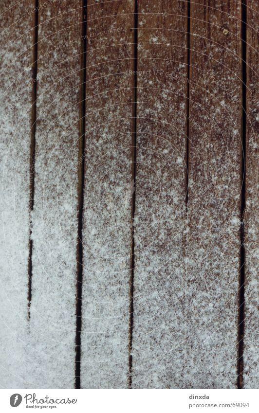 der winter naht... Schnee Holz Linie Holzbrett Furche Staub Spalte Pulver