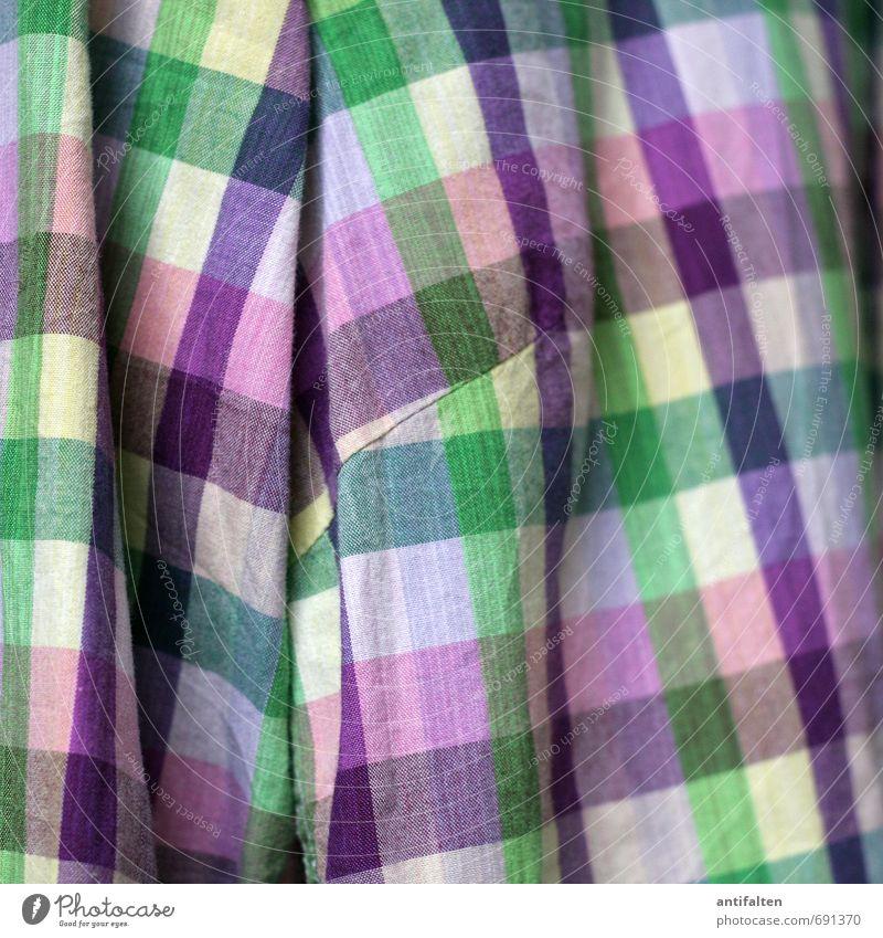 Frühjahrsmode Lifestyle kaufen Stil Freude Handarbeit Nähen Mode Bekleidung Hemd Stoff Baumwolle hängen Freundlichkeit Fröhlichkeit mehrfarbig gelb grün rosa