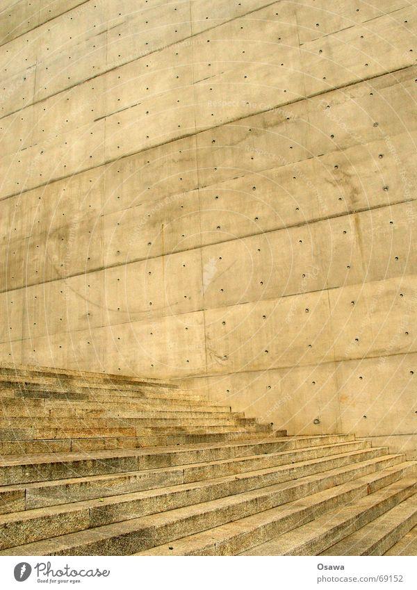 Beton Wand Treppe Konstruktion kalt hart einfach trist Architektur Strukturen & Formen Geometrie Außenaufnahme Tag abstrakt Fassade Detailaufnahme