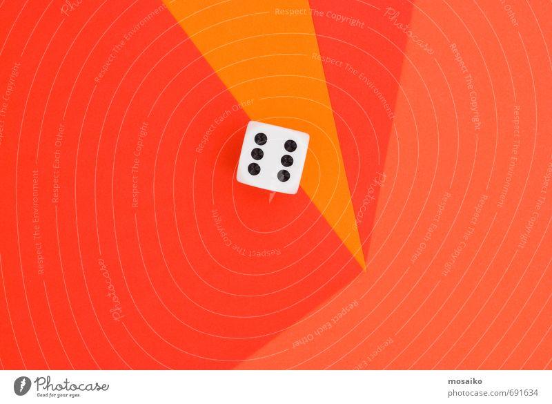 Farbe rot Freude lustig Spielen Glück Design orange Tourismus Erfolg Risiko Spielzeug graphisch Würfel Kontrolle Optimismus