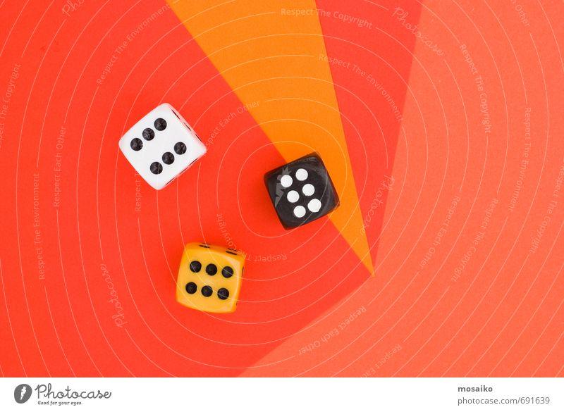 weiß rot Freude schwarz gelb Stil Spielen Glück Lifestyle Design orange Freizeit & Hobby Erfolg genießen Lebensfreude Zeichen