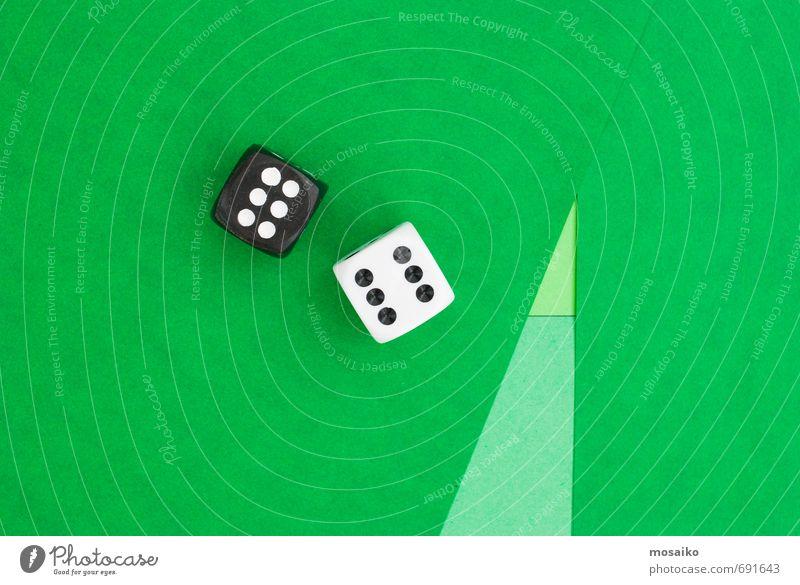 grün weiß Freude schwarz Spielen Glück Freizeit & Hobby Lifestyle Design Schilder & Markierungen Erfolg einfach Papier Ziffern & Zahlen Zeichen Spielzeug