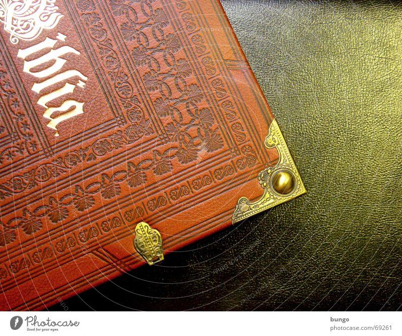 ... et veritas Buch lesen Erholung Freizeit & Hobby gold Schnörkel Leder Bibel Neues Testament Götter Religion & Glaube Christentum Muster Ornament regelmässig