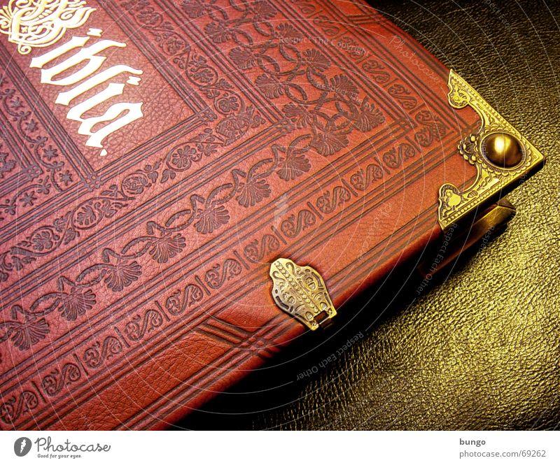 """... et vita;"""" Buch lesen Erholung Freizeit & Hobby gold Schnörkel Leder Bibel Neues Testament Götter Religion & Glaube Christentum Muster Ornament regelmässig"""