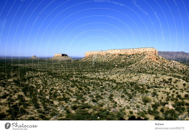 Ugab-Terassen Natur Himmel blau Berge u. Gebirge groß Afrika Schönes Wetter Süden Tal Namibia Geografie Tafelberg