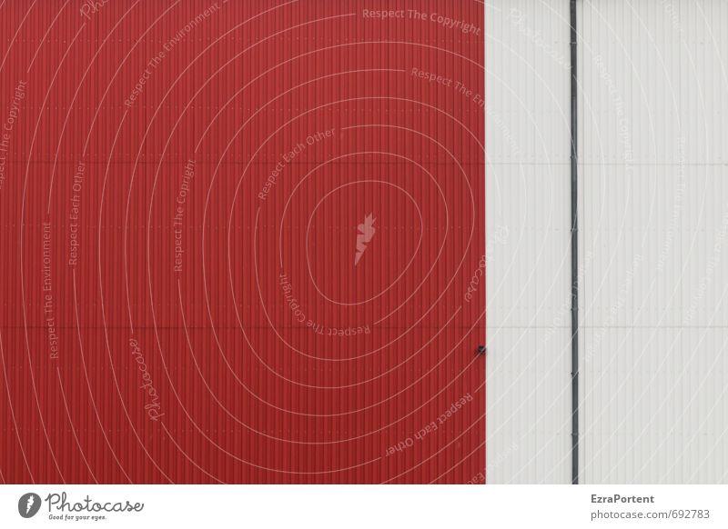 .    Farbe weiß rot Haus Wand Architektur Stil Hintergrundbild Gebäude Mauer Linie Design Technik & Technologie Industrie Grafik u. Illustration Bauwerk