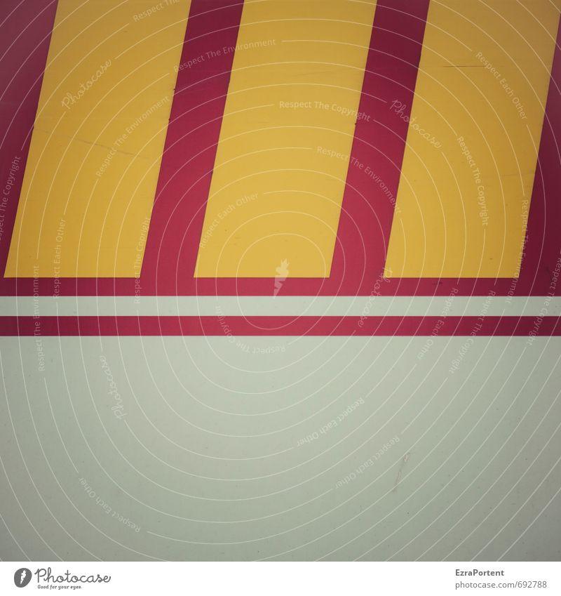 \\\ Linie gelb rot Strukturen & Formen Design Stil Streifen weiß Grafik u. Illustration graphisch Grafische Darstellung deutlich Farbfoto Gedeckte Farben