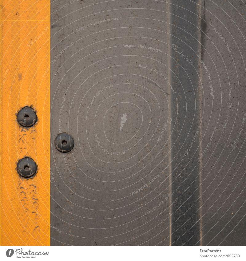 . Verkehr Güterverkehr & Logistik Lastwagen Metall Linie dreckig dunkel trashig gelb orange schwarz Strukturen & Formen Punkt Karosserie Reflektor Design
