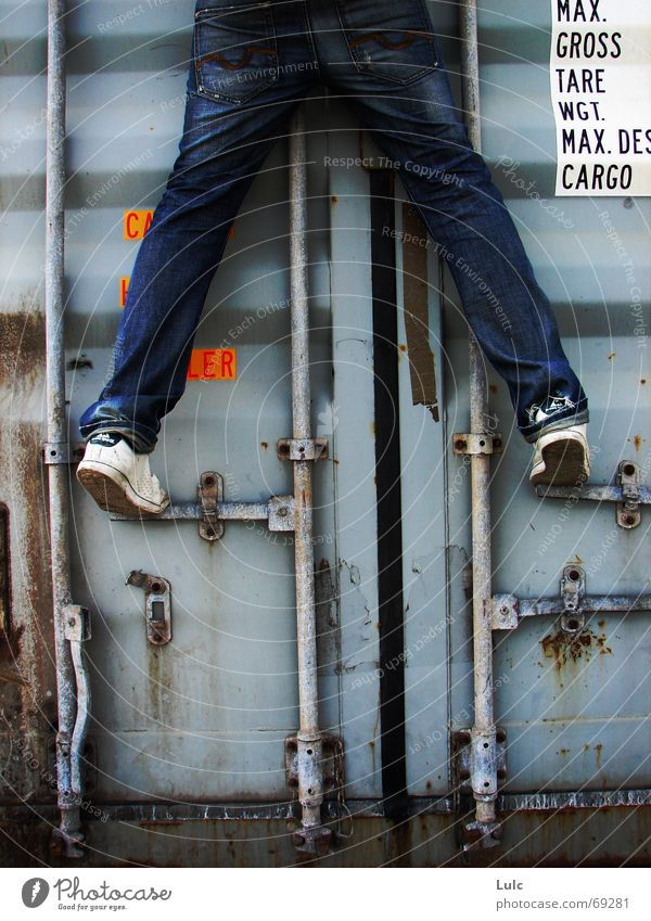 Climb Me climbing youth fallen Container blue Jeanshose shoes