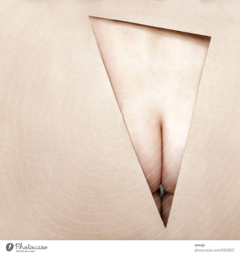 Teil 2 feminin Körper Haut Gesäß 1 Mensch 18-30 Jahre Jugendliche Erwachsene außergewöhnlich nackt Dreieck graphisch Farbfoto Innenaufnahme Studioaufnahme