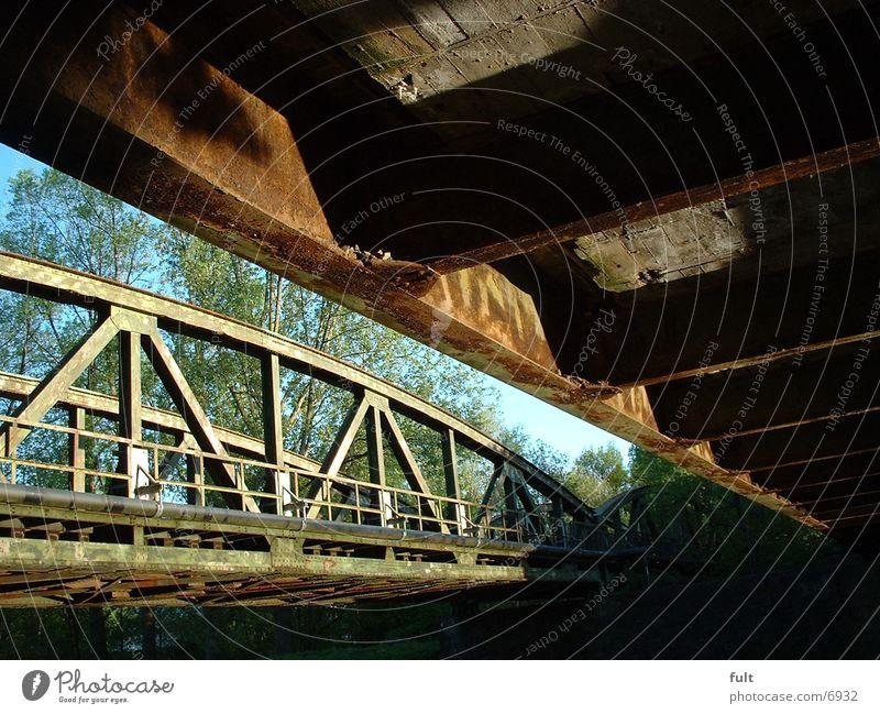 Brücke Stahl Metall alt