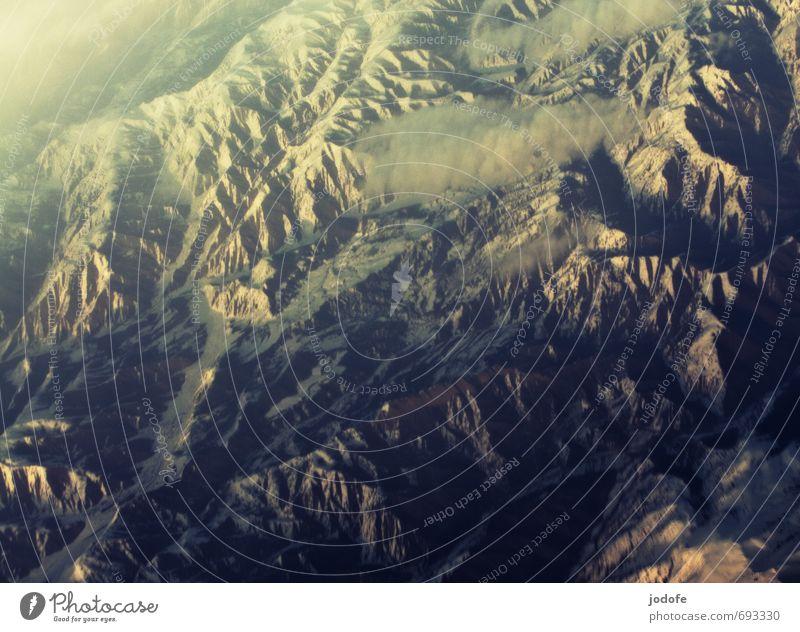 Hindukusch Umwelt Natur Landschaft Urelemente Erde Schönes Wetter Schnee Felsen Berge u. Gebirge Gipfel Schneebedeckte Gipfel bedrohlich eckig blau grau weiß