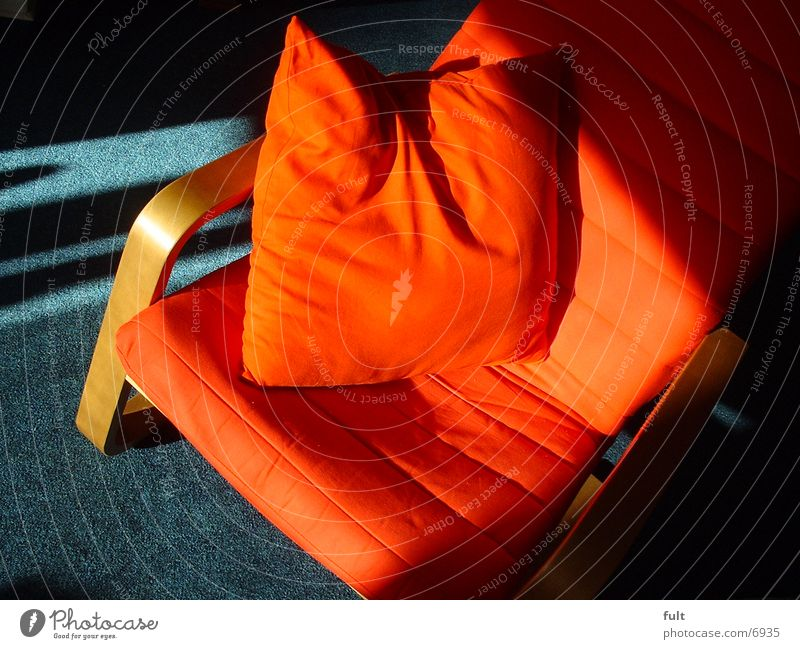 Kissen rot Holz Stuhl Häusliches Leben