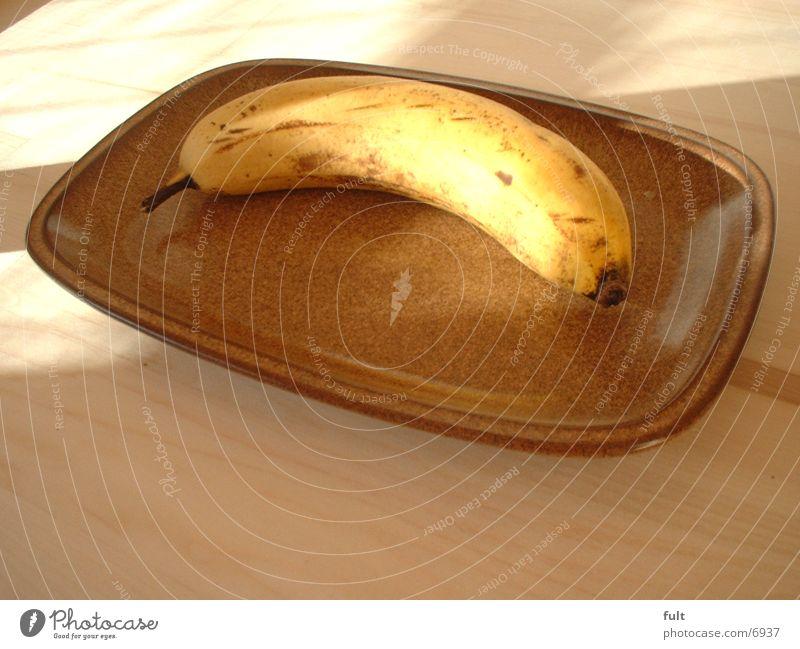 Banane Holz Gesundheit Frucht Teller