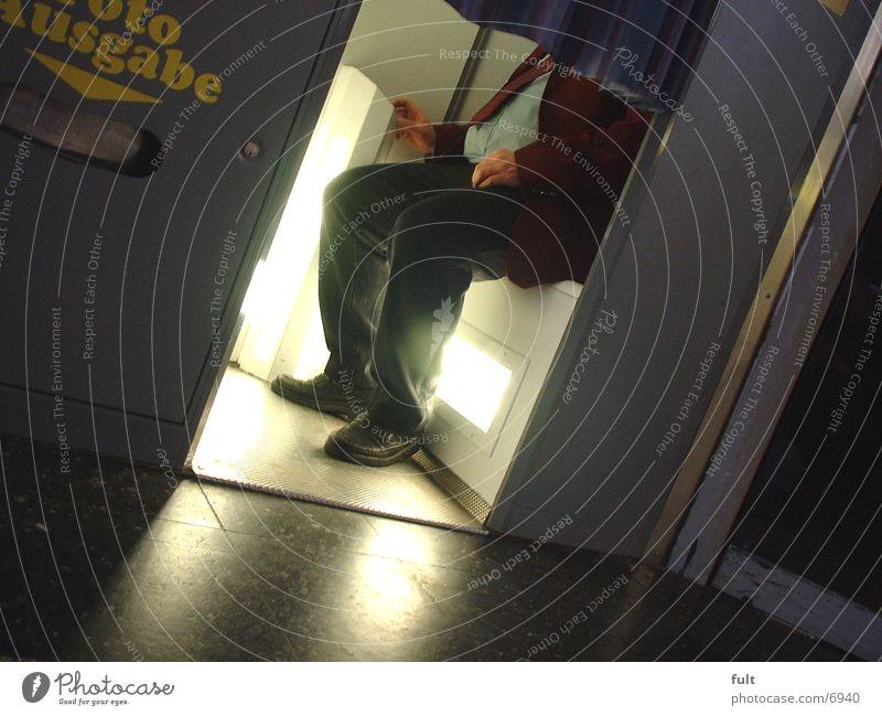 Fotokiste Mann Schuhe Fotografie sitzen