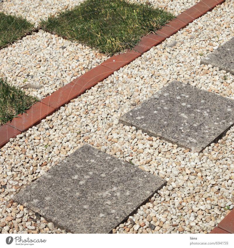 Vorgartenidylle Stil Freizeit & Hobby Garten Stein außergewöhnlich einzigartig Leidenschaft Opferbereitschaft Ordnungsliebe anstrengen Rasen Kieselsteine