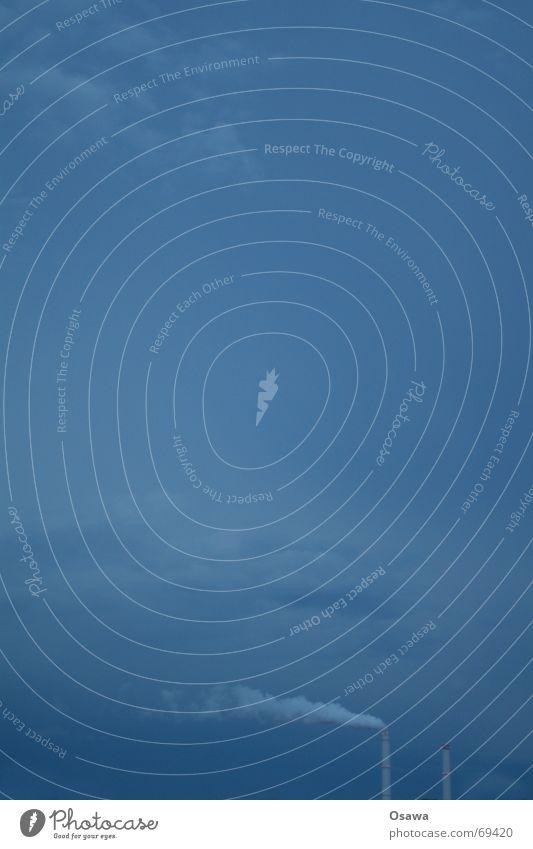 Für Tinka Himmel blau Wolken Ferne Wind Rauch Schornstein Wasserdampf Stromkraftwerke Smog