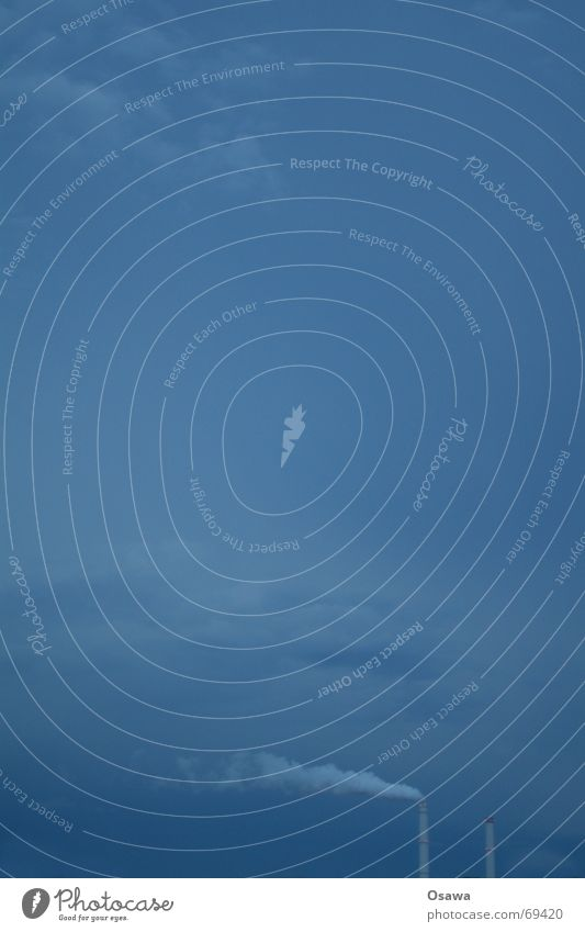 Für Tinka Wolken Wasserdampf Smog blau Himmel Schornstein Stromkraftwerke Rauch Wind Ferne