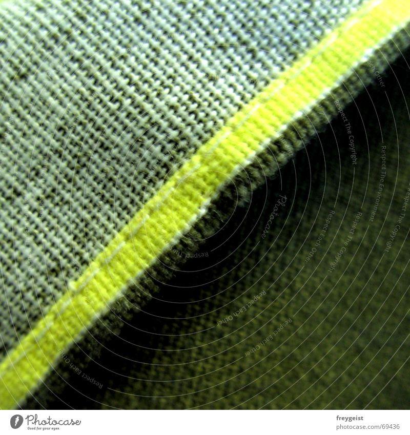 Neon weiß grün gelb Stoff Quadrat Falte Teilung diagonal Neonlicht Dreieck Naht