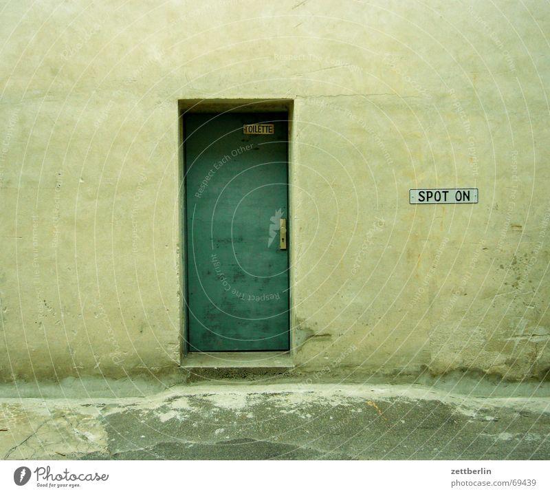 Toilette - Spot on! Tür Gesellschaft (Soziologie) Eingang