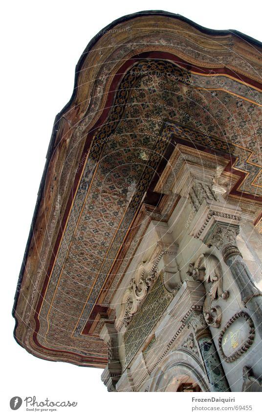 Historischer Einblick alt Gebäude Fassade Dekoration & Verzierung historisch Säule Decke Istanbul Naher und Mittlerer Osten Mosaik Asien Altertum
