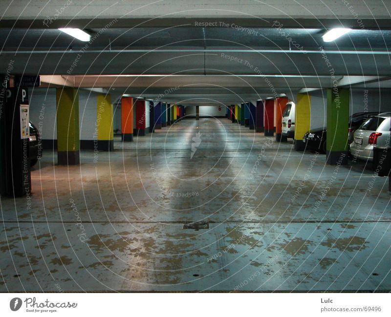 Park A Lot Zoomeffekt colours colors cars parking basement lights concrete