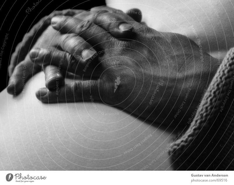 Mutterschutz Hand Baby Mutter rund Schutz dick schwanger Bauch