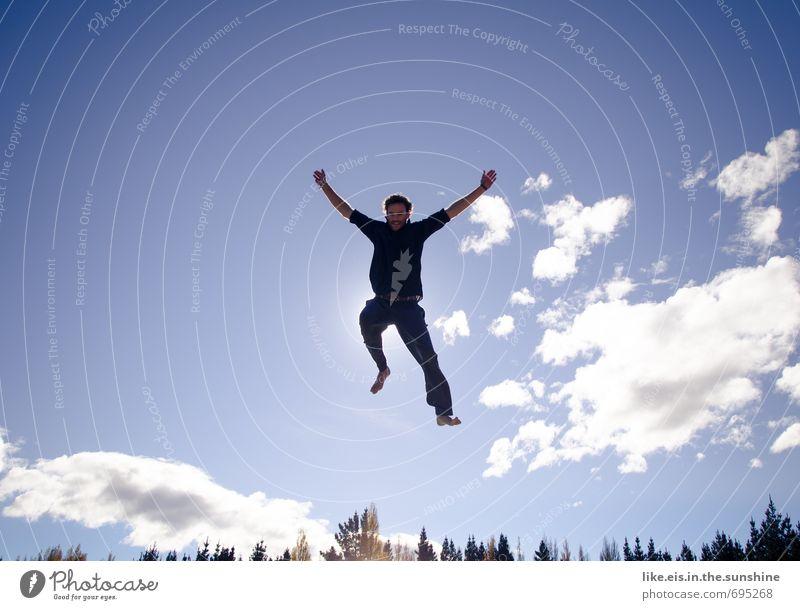 fast schon wochenende! Himmel Natur Jugendliche Ferien & Urlaub & Reisen Mann Sommer Landschaft Wolken Freude 18-30 Jahre Junger Mann Erwachsene Umwelt Leben