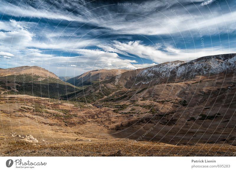 13000ft / 1 Himmel Natur Ferien & Urlaub & Reisen Pflanze Landschaft Wolken Ferne Wald Umwelt Berge u. Gebirge Schnee Freiheit Erde Luft Wetter