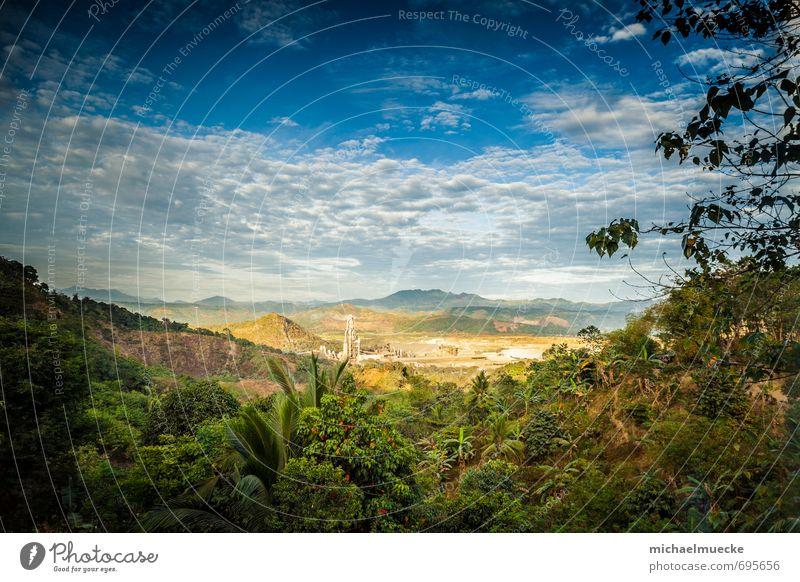 Industry in nature Ferne wandern Industrie Umwelt Natur Landschaft Pflanze Himmel Wolken Wetter Hügel Philippinen Asien Dorf schön Idylle Antipolo Philippines
