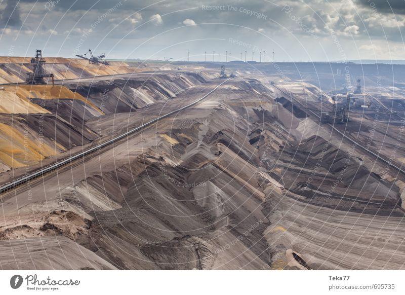 Garzweiler 7 Natur Landschaft Umwelt Kraft Energiewirtschaft Klima Technik & Technologie Industrie Hügel Maschine Klimawandel gefräßig Hemmungslosigkeit