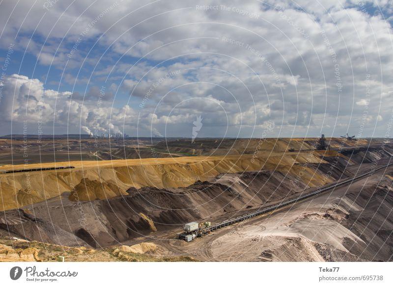Garzweiler 6 Natur Landschaft Umwelt Kraft Energiewirtschaft Klima Technik & Technologie Industrie Hügel Maschine Klimawandel gefräßig Hemmungslosigkeit