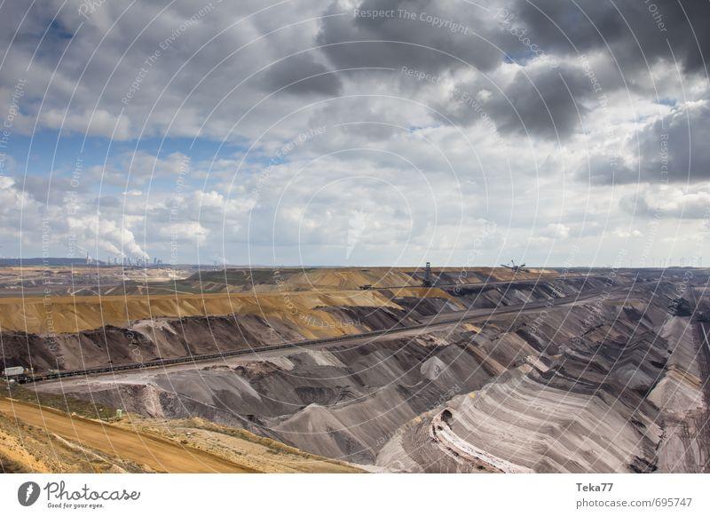 Garzweiler 4 Maschine Technik & Technologie Energiewirtschaft Kohlekraftwerk Energiekrise Industrie Umwelt Natur Landschaft Klima Klimawandel Hügel Kraft