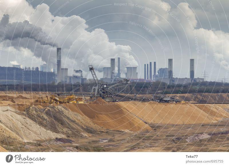 Garzweiler 1 Natur Landschaft Umwelt Sand Erde Kraft Energiewirtschaft Technik & Technologie Industrie Maschine Klimawandel egoistisch Hemmungslosigkeit