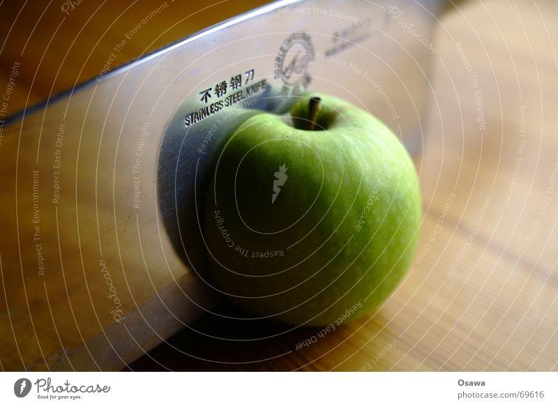 9 live (2) Axt Teilung Hälfte Stengel grün Stahl rostfrei China Chinesisch Apfel Messer Haarschnitt Granny Smith Klinge Scharfer Gegenstand teilen