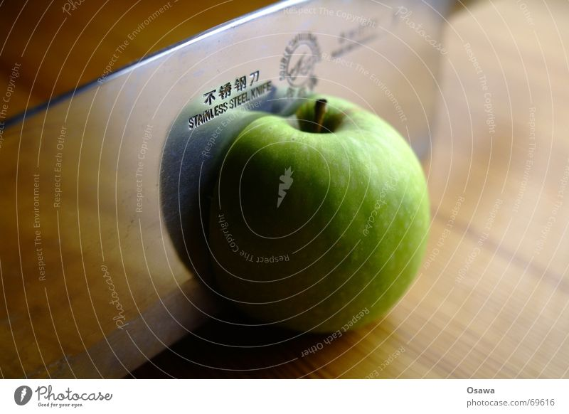 9 live (2) grün Scharfer Gegenstand Apfel Teilung Stengel Stahl China Messer Hälfte Werkzeug Haarschnitt Chinesisch Frucht Klinge Axt rostfrei