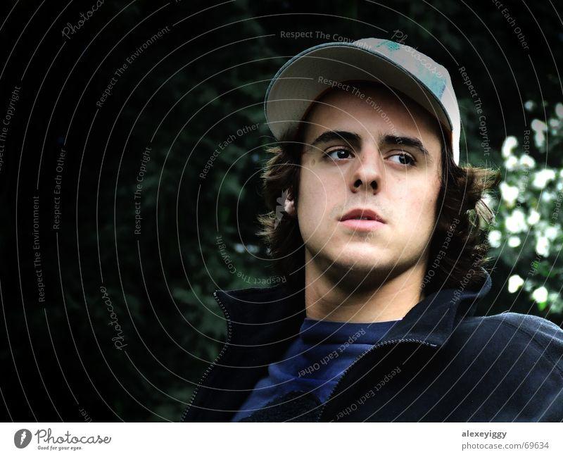 Profil Silhouette Belichtung Baseballmütze Mann maskulin Mensch hell/dunkel man