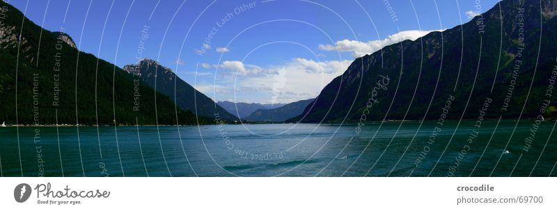 achensee Himmel Freude Ferien & Urlaub & Reisen Wolken Ferne Berge u. Gebirge Freiheit See Wellen groß Europa Österreich Panorama (Bildformat) Bundesland Tirol