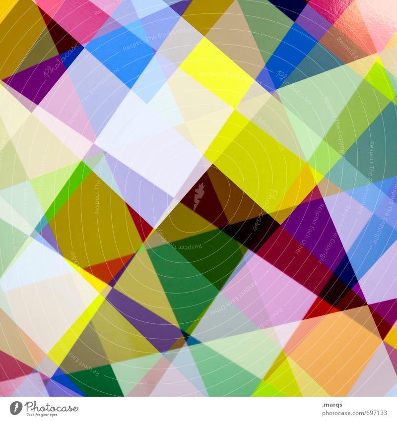 Gekreuzt schön Farbe Stil außergewöhnlich Linie Lifestyle elegant Design modern verrückt ästhetisch Coolness einzigartig trendy Irritation Geometrie