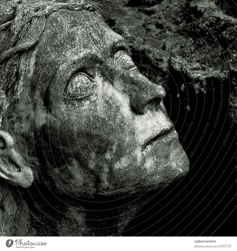 leerer Blick Frau Blick Stein Hoffnung Vergänglichkeit Verfall Skulptur Erinnerung Kunstwerk