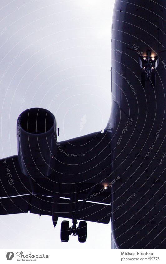 Landelichter Abdeckung Fahrwerk Schiffsbug Bugrad Triebwerke Flugzeug Oberkörper Landeklappe aircraft lights Flughafen Flugzeuglandung Flügel