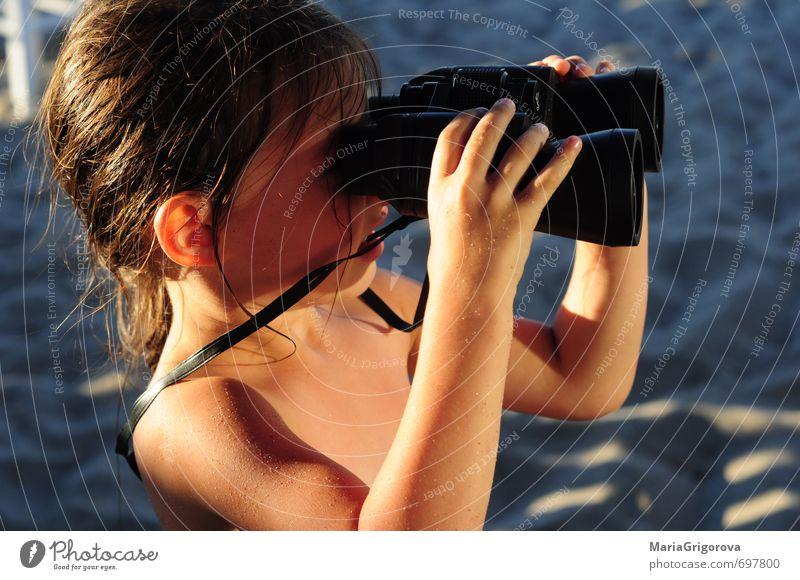 Natur schön Sommer Sonne Freude Gefühle natürlich Sand träumen Schönes Wetter Fröhlichkeit genießen niedlich Abenteuer Fernglas