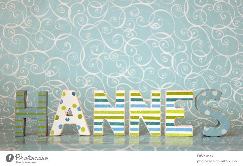 HANNES Kind Farbe Senior Innenarchitektur Spielen Stil Dekoration & Verzierung Schriftzeichen Papier einzigartig Zeichen Buchstaben schreiben türkis Typographie