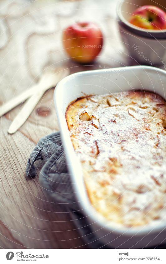 Apfel-Pfannkuchen aus dem Ofen Frucht Ernährung süß Süßwaren lecker Kuchen Schalen & Schüsseln Dessert Slowfood